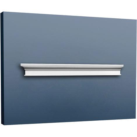 Fronton Encadrement de porte Orac Decor D400 LUXXUS Elément décoratif classique Profil de stuc blanc 127 cm