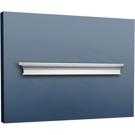 Fronton Encadrement de porte Orac Decor D401 LUXXUS Elément décoratif classique Profil de stuc blanc 127 cm