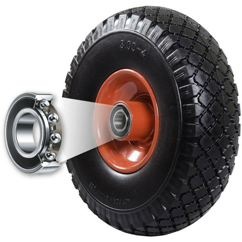 FRONTTOOL Sackkarrenrad pannensicher mit Kugellager PU Cross 260 260 x 85 x 20 mm Vollgummi Ersatzrad Sackkarre Variante:4 R/äder