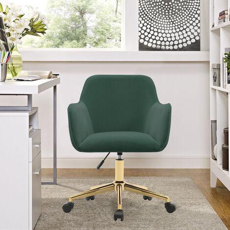 Frosted Adjustable Swivel Velvet Office Chair