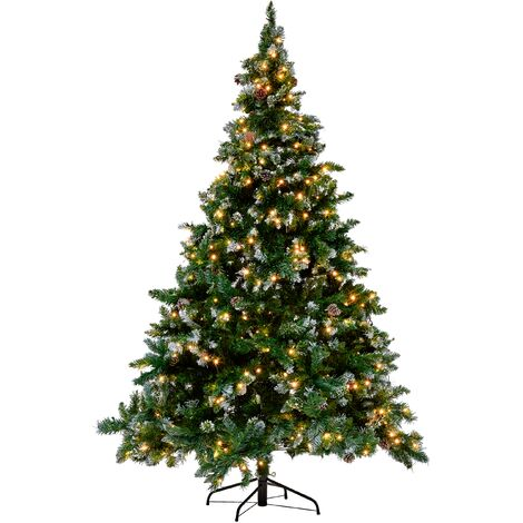 Frosted Christmas Tree Pre-Lit 180 cm Green PALOMAR