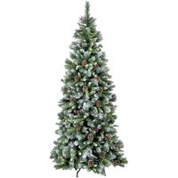 Frosted Glacier Hook on with Cones Artificial Christmas Tree - Various Sizes