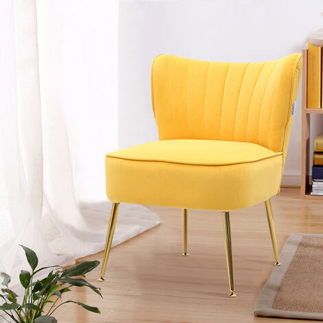 Frosted Velvet Cocktail Accent Chair