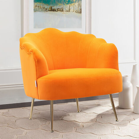 Frosted Velvet Shell Accent Chair