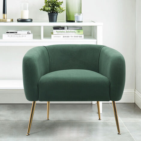 Frosted Velvet Tub Armchair Single Sofa