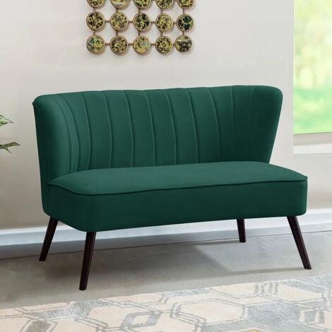Frosted Velvet Wingback 2 Seater Sofa