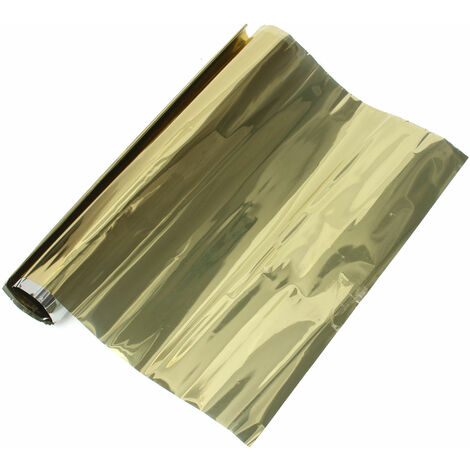Frosted Window Film, Frosted Glass Self Adhesive Vinyl (Gold, 1m * 40cm)