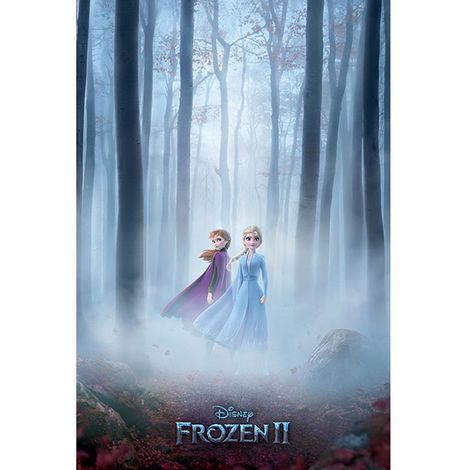 Frozen 2 Woods in Fog Poster (One Size) (Multicoloured)