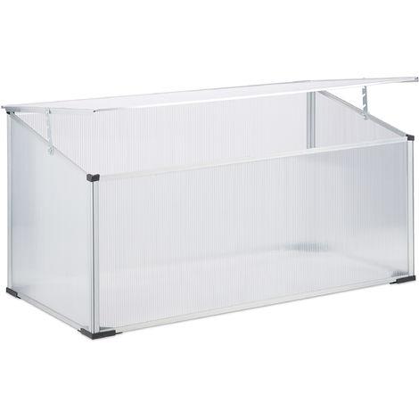 Frühbeet Alu, Stecksystem, lichtdurchlässig, UV-Schutz, Mini Gewächshaus, HxBxT: 100 x 50 x 50 cm, transparent
