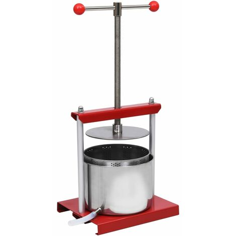 Fruit and Wine Press Stainless Steel 6 L