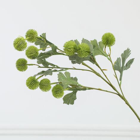 Fruit artificiel petit hortensia simple boule de pomme de pin décoration de la maison fleur artificielle plante verte (vert clair * 4