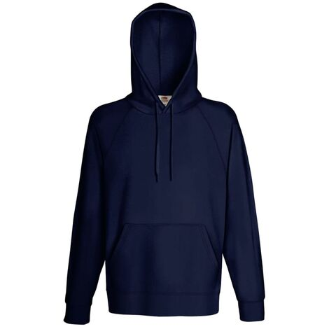 Fruit of the Loom 5 pcs Men's Hooded Sweatshirt Hoodies Deep Navy L