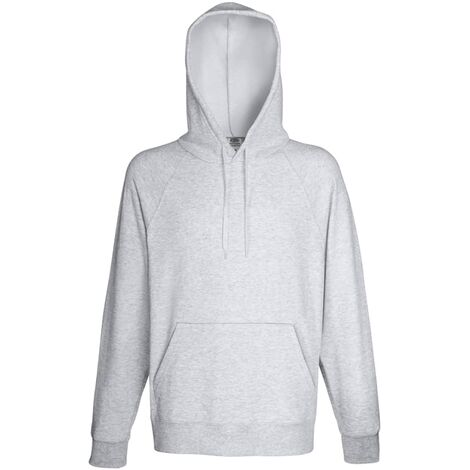 Fruit of the Loom 5 pcs Men's Hooded Sweatshirt Hoodies Heather Grey XL