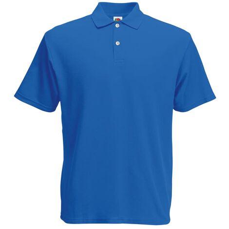 Fruit of the Loom 5 pcs Polo shirts pour homme Original Bleu royal L