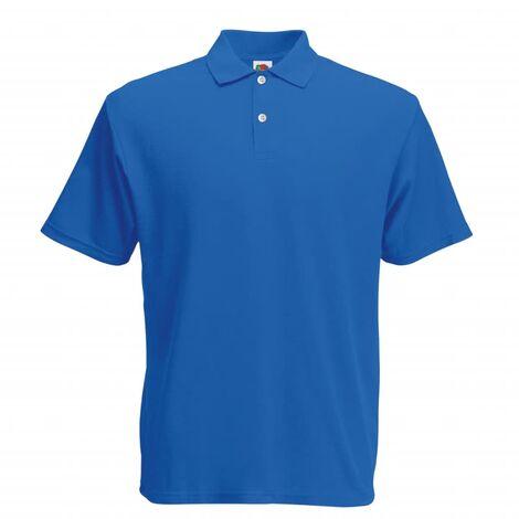 Fruit of the Loom 5 pcs Polo shirts pour homme Original Bleu royal S
