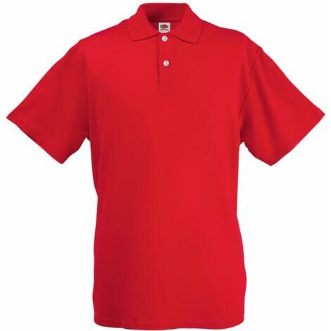 Fruit of the Loom 5 pcs Polo shirts pour homme Original Rouge XXXL