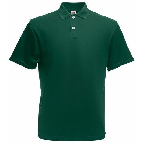 Fruit of the Loom 5 pcs Polo shirts pour homme Original Vert forêt L