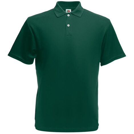 Fruit of the Loom 5 pcs Polo shirts pour homme Original Vert forêt S