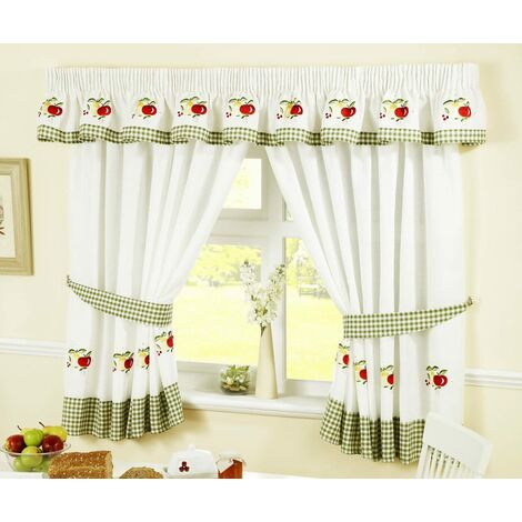"""Fruits Kitchen Curtains 46x54"""" Pair Ready Made"""