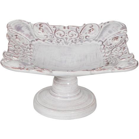 Frutero con pie centro de mesa cerámica de Bassano Made in Italy