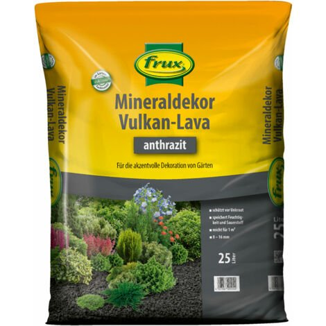 frux® Mineraldekor Vulkan-Lava anthrazit 25 Liter für ca. 1 m²