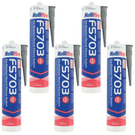 FS703 NULLIFIED fireproof sealant grey 310ml x5