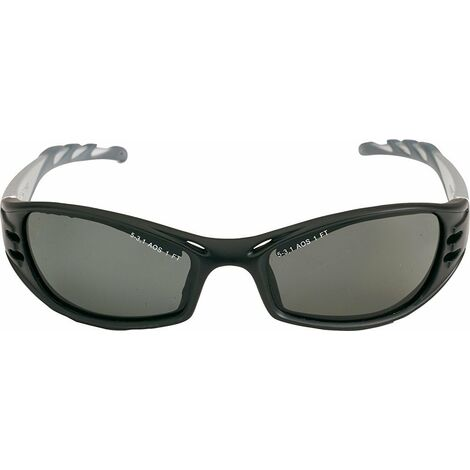 FUEL Gafas montura negra/plata PC gris polarizadas AR y AE FUGREPOL