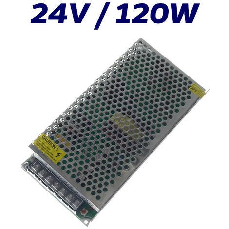 FUENTE ALIMENTACIÓN LED 24V INTERIOR 120W