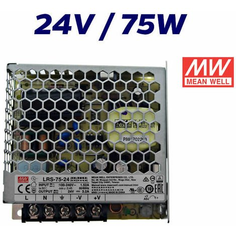 """main image of """"FUENTE ALIMENTACIÓN LED 24V MEAN WELL 75W"""""""