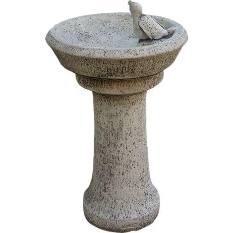 Fuente Bebedero para Pajaros de jardín en hormigón-piedra