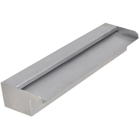Fuente cascada rectangular piscina acero inoxidable 45 cm