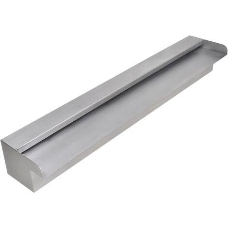 Fuente cascada rectangular piscina acero inoxidable 60 cm
