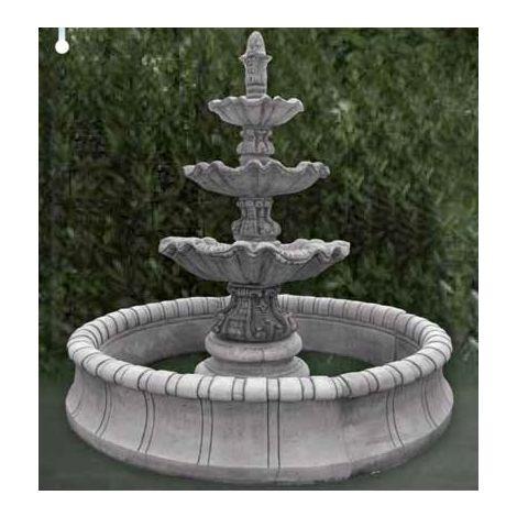 Fuente central clásica de hormigón Mod. Jerica 180x170cm.