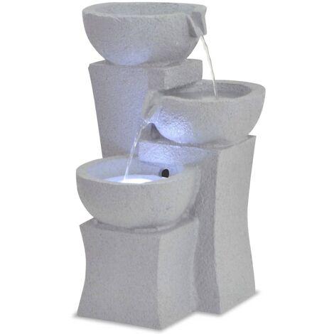 Fuente de agua de interior con LED de poliresina