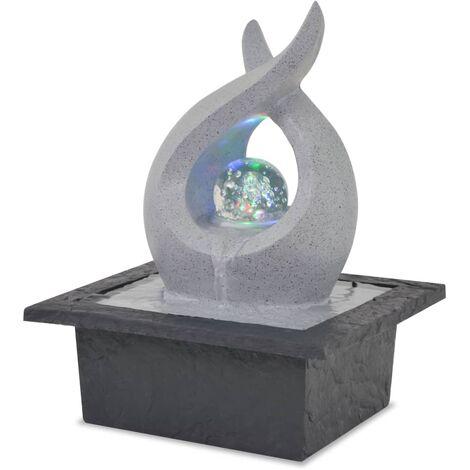 Fuente de agua de interior con luz LED de poliresina