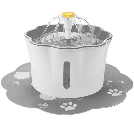 Fuente de agua para gatos, 2.6L / 88oz Fuente de agua para mascotas Fuente de agua potable para flores
