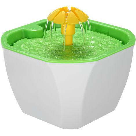 Fuente de agua para mascotas, dispensador automatico de agua de flor de gato 1.6L