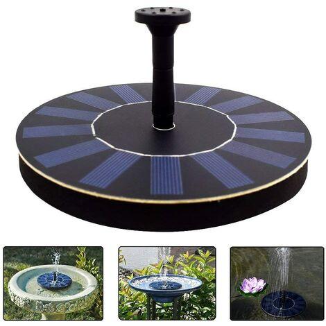 Fuente De Agua Solar, 1.4W Bomba De Agua Solar Fuente De Jardin Para Pájaros Con 4 Rociador Diferente, Filtro De Baño Al Aire Libre Para Pájaros,Patio Jardín Decoración
