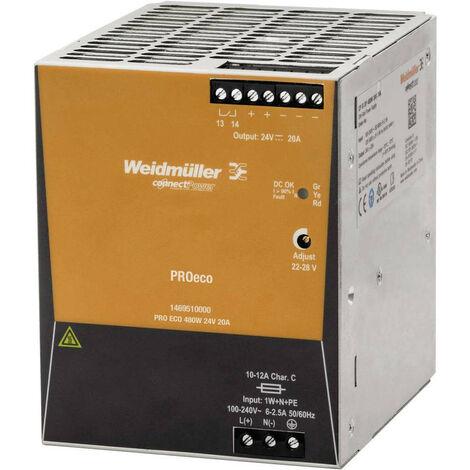 Fuente de alimentación Weidmuller de conmutación PRO ECO 480W 24V 1469510000