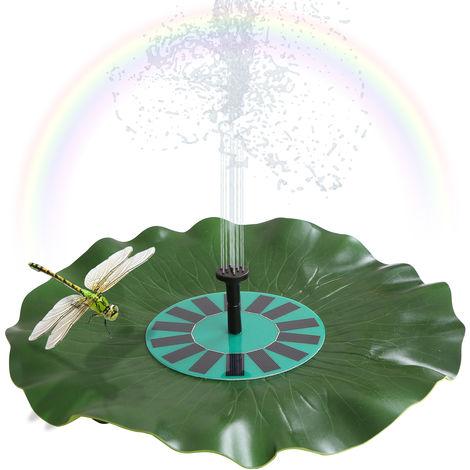 Fuente de hoja de loto solar flotante bomba de decoracion sin escobillas