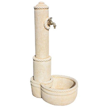 Fuente de hormigón-piedra Pilón de Lisco 122x47x66cm. - color ocre
