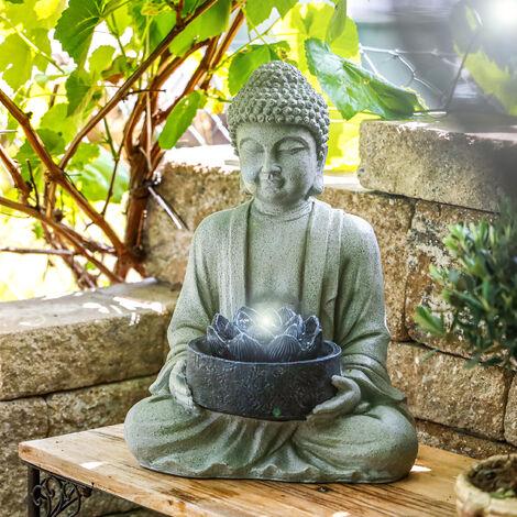 Fuente de jardín Buda+fuente decorativa con luz LED para interiores de 230V 101452