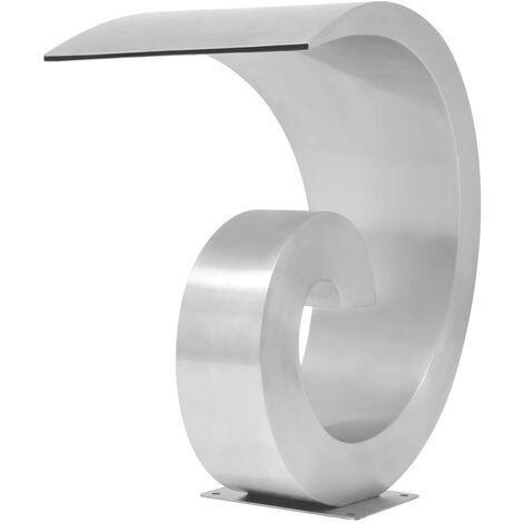 Fuente de piscina de acero inoxidable 50x30x53 cm plateada
