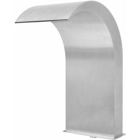 Fuente de piscina de acero inoxidable plateada 45x30x65 cm