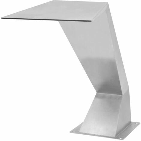 Fuente de piscina de acero inoxidable plateada 64x30x52 cm
