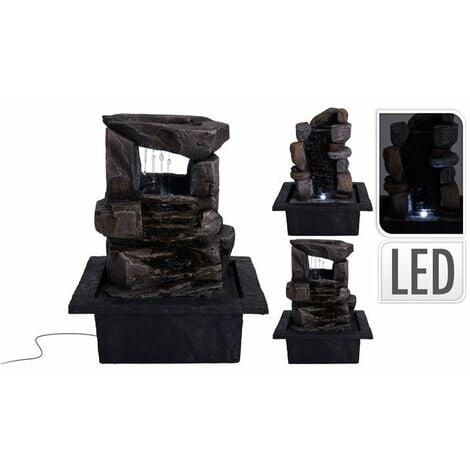 Fuente decorativa LED de piedras