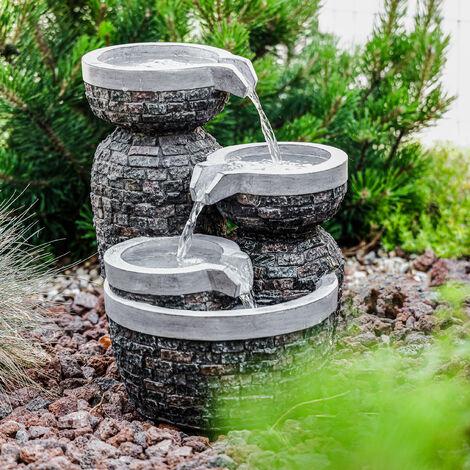Fuente en cascada de jardín decorativa de 230V 101453