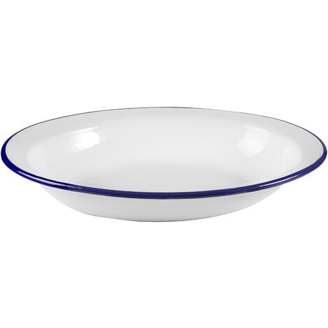 Fuente honda oval de acero esmaltado vitrificado 32x25,5cm. (Ibili 905232)