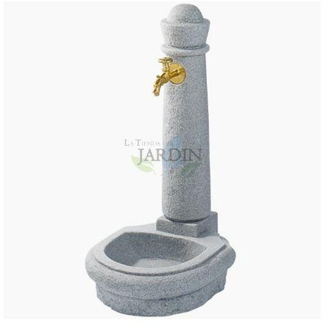 Fuente jardin imitación piedra natural gris
