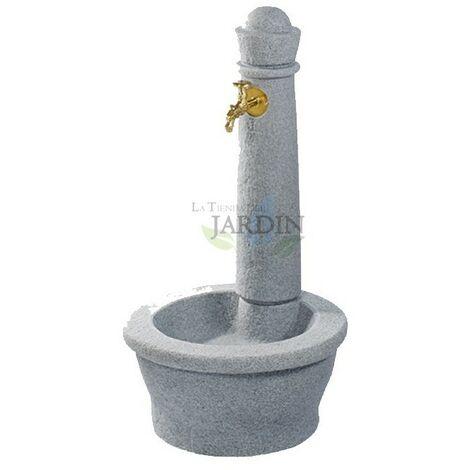 Fuente jardin robusta imitación piedra natural gris